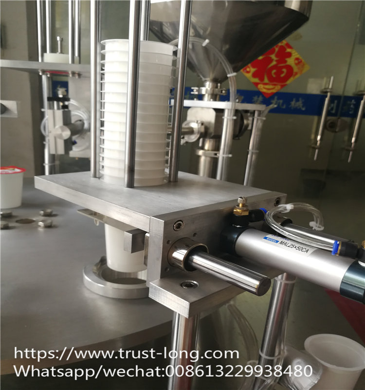 China manufacturing rotary yogurt cup filling machine to Africa Kenya