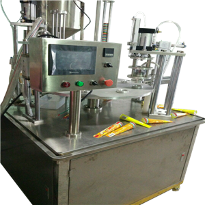 Automatic rotary calippo ice lolly filling and sealing machine
