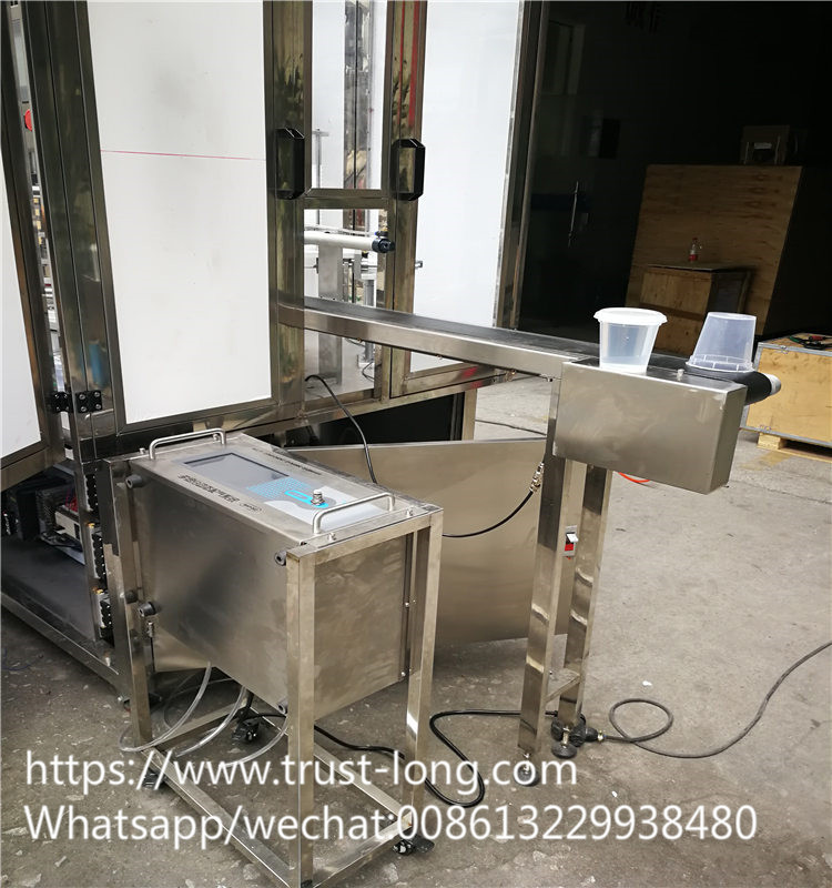 China rotary cup pudding fruit filling machine